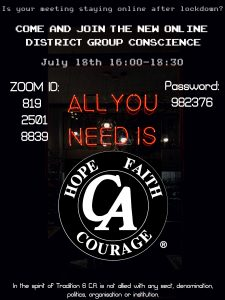 Online District Group Conscience